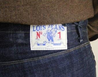 LOIS Vintage Blue Denim Botton Fly Bootcut Men's Jeans W32