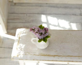 TO ORDER - Lilac branch 1/12 scale, free shipping, dollhouse decor, dollhouse flowers, dollhouse miniatures