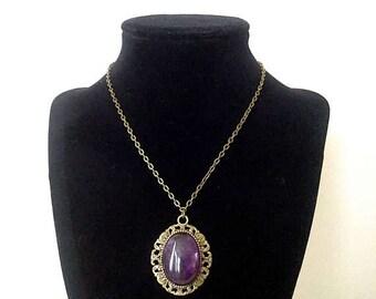 "Amethyst, Howlite, Lapis Lazuli, Aventurine, Anyolite 19"" Chain Handcrafted Crystal Healing Gemstone Pendant Jewelry FREE Shipping"