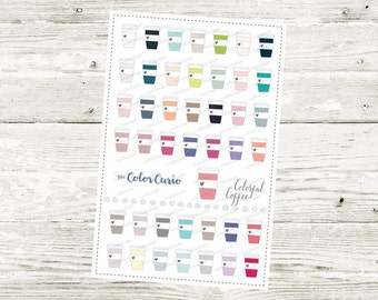 Colorful Coffee Stickers