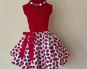 Strawberry Fields girls rockabilly skirt.