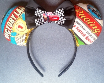 Limited edition Lightning McQueen Inspired Cars Mouse Ears