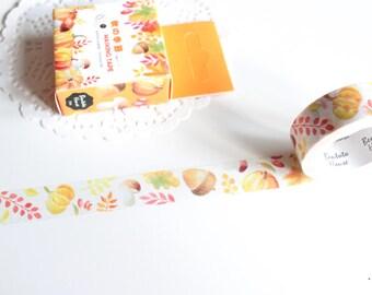 Autumn Fall Washi Tape, Pumpkin Acorn Fall Washi Tape, Halloween Washi (NT-171)