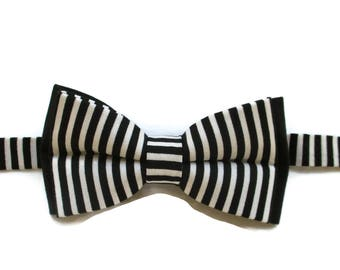 Black and White Bow Tie - Boys Bow Tie - Bow Tie for Boys - Pre-tied Bow Tie - Kids Bowtie - Little Boys Bow Tie
