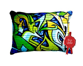 Graffiti on Wall - Street Art - Cushion BESTSELLER