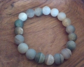 Gray Beaded SEMI-PRECIOUS BRACELET-