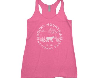Rocky Mountain National Park Adventure Next Level Ladies Tri-Blend Tank