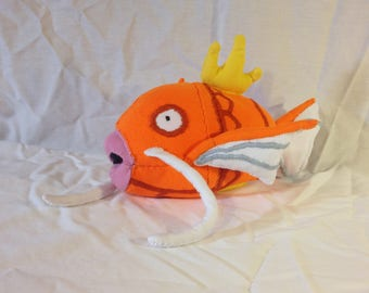 Magikarp (female) – 11 inches – Made from recycled clothing