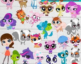 Littlest Pet Shop ClipArt-Printable.Littlest Pet Shop ClipArt. Littlest Pet Shop Birthday Party PNG Images-Digital, instant download