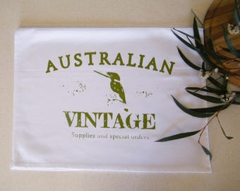Australian vintage cotton tea towel
