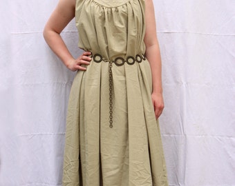 Green LARP medieval costume dress - Size S-L