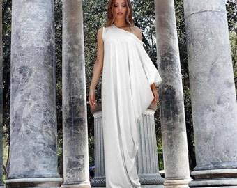 White Maxi Dress, White Kaftan Dress, Asymmetrical dress, Kaftan Maxi Dress, Plus Size Dress, Oversize Loose Dress, Caftan Dress, Markiiza