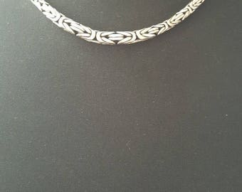 "18"" 925 Sterling Silver Necklace w/925 Toggle Clasp"