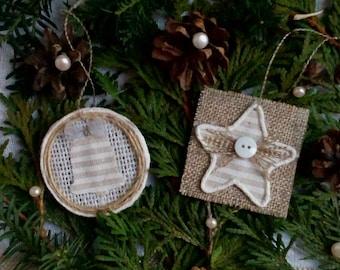 Rustic Christmas Decorations, Rustic Christmas Tree Ornaments, Christmas Decorations, White Christmas, Farmhouse Decor