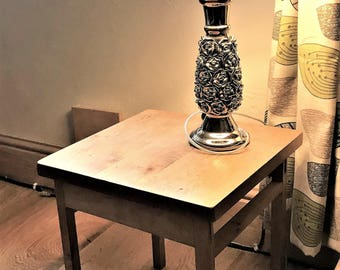 Table, side, made from solid oak