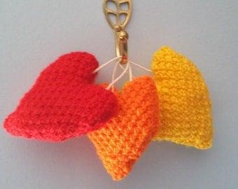 Knitted Heart, Soft Stuffed Decoration