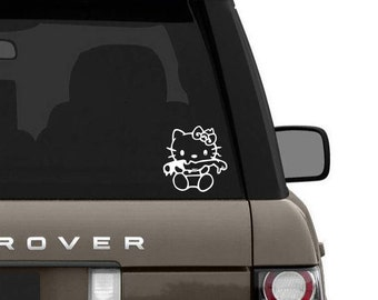 Hello kitty inspired zombie decal