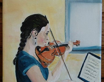 An air of violin with music musical notes