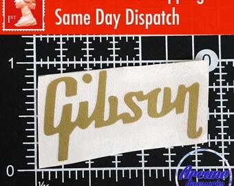 Gibson Guitar Headstock Logo Decal *4 COLOURS* Vinyl Restoration Project Sticker