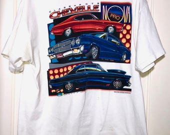 1990 Class Acts Chevelle Hot Rod T-Shirt Mens Size Large
