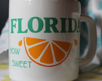 "Vintage Florida ""How Sweet It Is"" Coffee Mug"