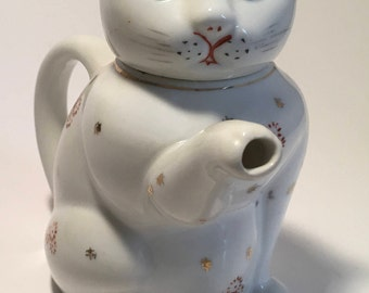 Vintage ceramic cat teapot