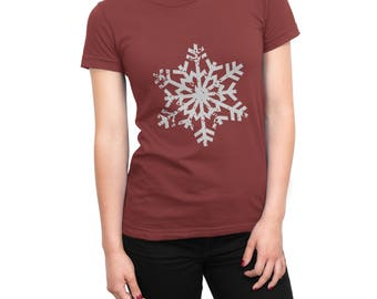 Distressed Snowflake SVG Christmas SVG Cut file winter Tshirt Cutting file SVG Dxf Eps Ai Pdf Png Jpg Files for Cricut Silhouette and more