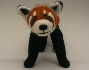 Needle Felted Red Panda Sculpture