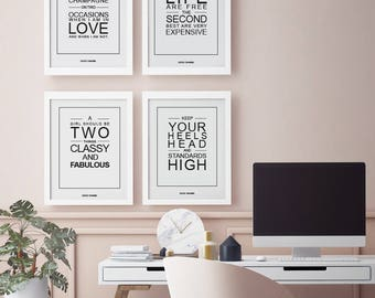 Coco Chanel standards set of 4 pictures wall S017