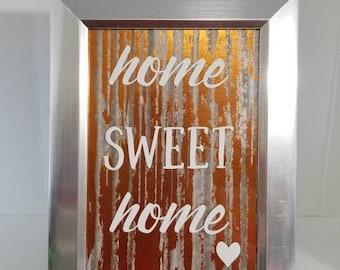Home Sweet Home - Vinyl Decor - 5 x 7 Framed