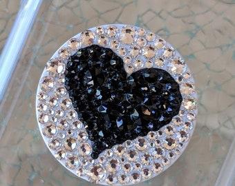 Swarovski Black Heart Crystal Black PopSocket