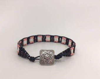 Western/Boho Single Wrap Seed Bead/Tila Bead Bracelet/Leather Wrap Bracelet/Wrap Bracelet