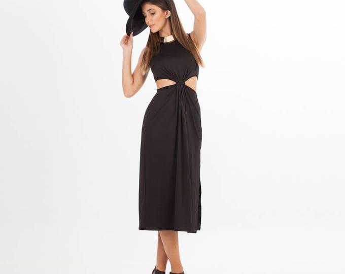 Sexy Black Dress - Black Dress - Dress - Sleeveless Dress - Open Black Dress - Little black Dress - Black Cocktail Dress