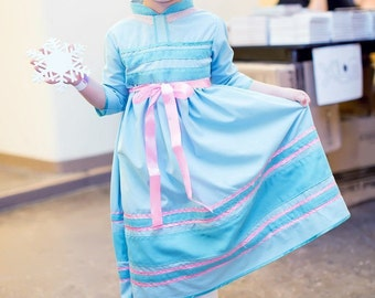 FREE SHIPPING Princess Elsa Dress cosplay halloween costume  + GIFT