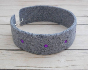 Granite polymer clay bracelet