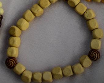 Pearl&Ethnic Mix Bracelet