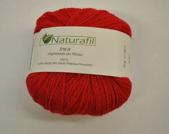INCA NATURAFIL red pure wool yarn