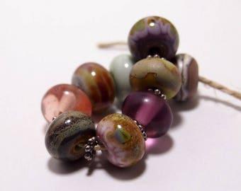 Boho Luxe Handmade Lampwork Glass Beads - Organic Eclectics from Mermaid Glass