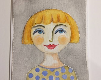 Original Watercolour : Claire
