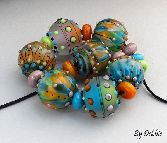 Lampwork Beads Statement Necklace Beads Glass Beads Necklace Bead Bracelet Jewelry Supplies Bead Gift For Her Bead Lampwork Debbie Sanders