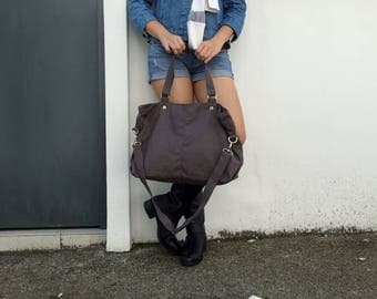 Sale Sale Sale 30% -Mia in Gray messenger bag/diaper bag/School bag/Shoulder bag / laptop bag /canvas  tote / women / For Her