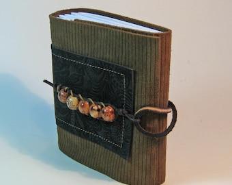Leather Pocket Journal, Leather Journal, Traveler's Notebook,  Bohemian, Art Journal,  Sketchbook, Bullet Journal, Leather Anniversary