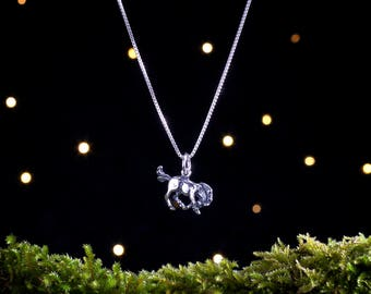 Sterling Silver Wild Pony - Small, 3D Double Sided - (Charm, Necklace or Earrings)