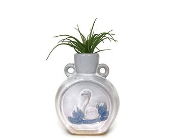 Vintage Swan Pottery Bud Vase // Nursery // Baby Gift // Ceramic Bird // Air Plant Holder