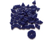 MINI Cobalt Navy Blue Triangle Shaped Mosaic Tiles 10mm//Recycled Glass Tiles//Mosaic Supplies//Jewelry Supplies//Mosaics