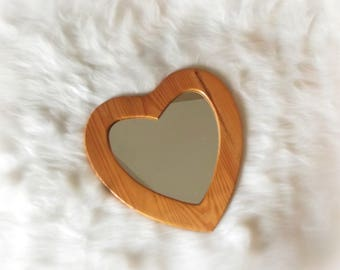 Wooden Heart Wall Mirror Wooden Heart Shaped Mirror