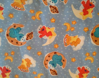 Sesame Street Muppets Cotton Flannel Fabric X1000 Baby Elmo, Cookie Monster