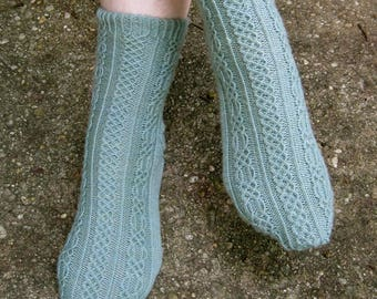 Knit Sock Pattern:  Shannon Cabled Socks Knitting Pattern
