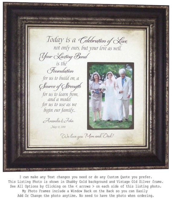 Personalized Wedding Gifts Father of The Bride Gift Mother