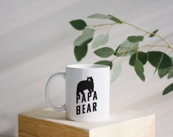 Papa Bear Mug - Papa Bear - Statement Mug - Gift for Dad - Dad Mug - Christmas Gift - New Dad Gift
